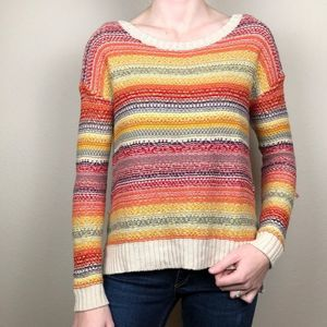 American eagle outfitters striped color sweater